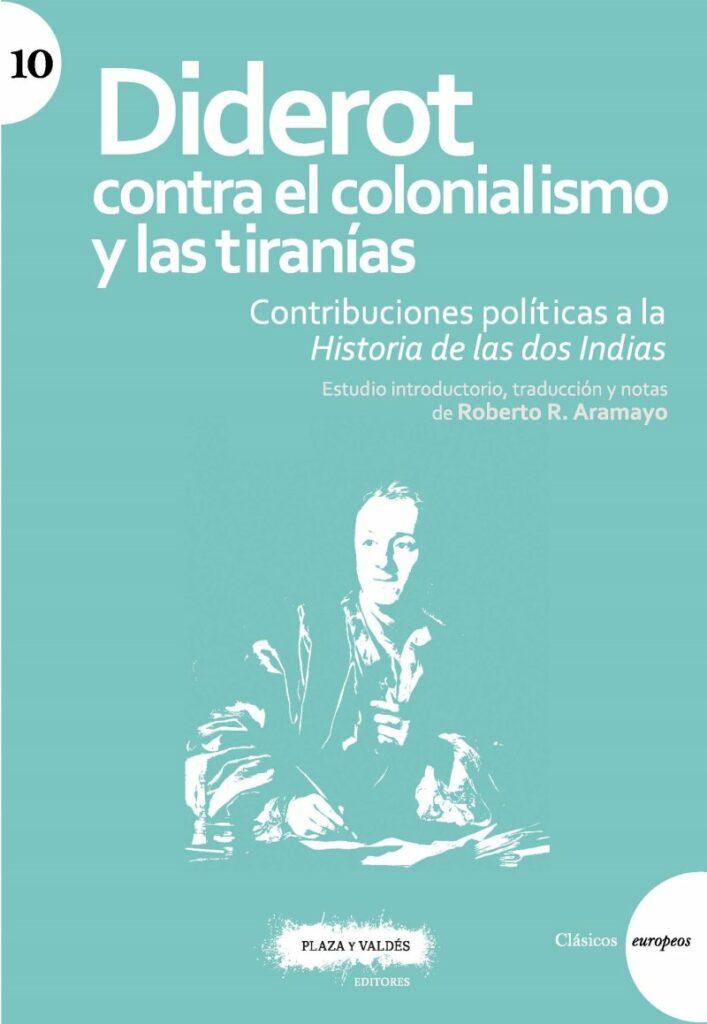 """Portada de """"Diderot contra el colonialismo y las tiranías"""""""