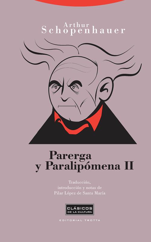 Portada del segundo volumen de Parerga y Paralipómena de Schopenhauer en Trotta