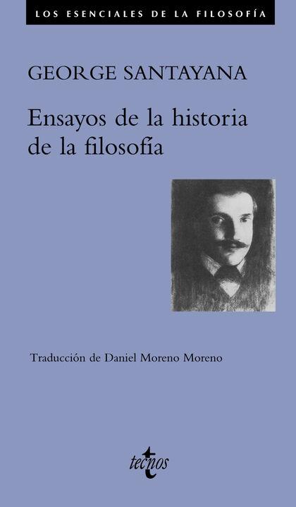 Portada de los Ensayos de la historia de la filosofía de George Santayana editados en Tecnos