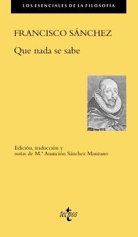 Portada de Que nada se sabe de Francisco Sánchez